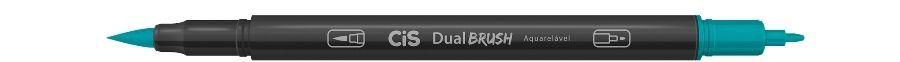 Marcador Dual Brush Aquarelavel 35 Turquesa - Cis