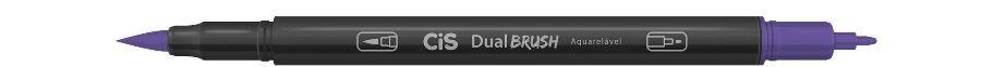 Marcador Dual Brush Aquarelavel 36 Violeta - Cis