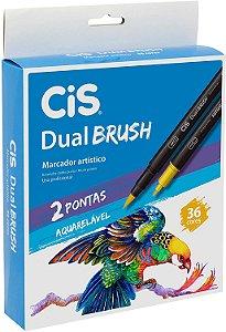 Estojo C/36 Marcador Dual Brush Aquarelavel - Cis