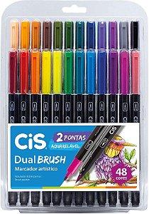 Estojo C/48 Marcador Dual Brush Aquarelavel - Cis