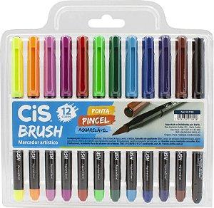 Estojo C/12 Marcador Brush Aquarelavel - Cis