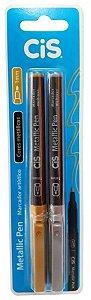 Marcador Artistico C/2 Mettalic Pen Blister - Cis