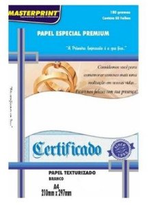 Papel Txt Bco A4 180g 50f Txt Linho - Masterprint