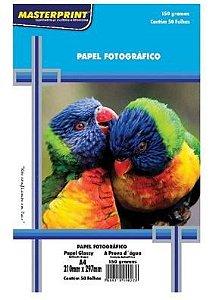 Papel Fotografico A4 150g 50f - Masterprint