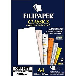 Papel A4 180g Offset Branco 50fls - Filipaper
