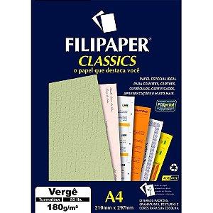 Papel A4 180g Verge Turmalina 50fls  - Filipaper