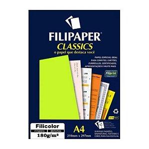 Papel A4 180g 50f Filicolor Amarelo - Filipaper