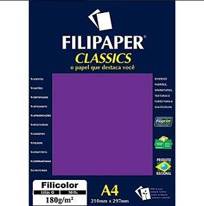 Papel A4 180g 50f Filicolor Lilas - Filipaper