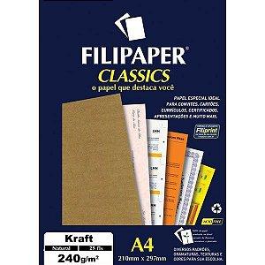 Filipaper A4 240g 25f Kraft Natural - Filipaper
