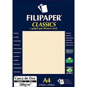 Papel A4 180g 50f Casca Ovo Marfim - Filipaper