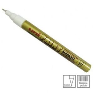Marcador Permanente 0,8mm Paint Dourado - Uni Ball