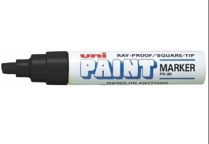 Marcador Permanente 8.5mm Paint Preto - Uni Ball