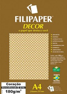Papel Decor Coracao Bra/am 20fls 180gr - Filipers