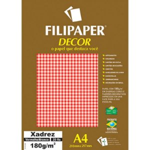 Papel A4 180g Decor Listras Vm/br 20fls -filipaper