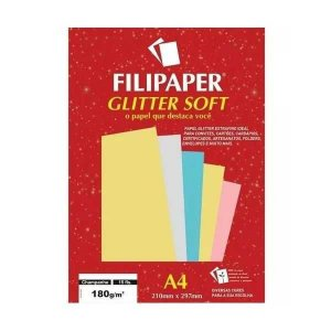 Papel A4 180g Glitter Soft Champ 15fls - Filipaper