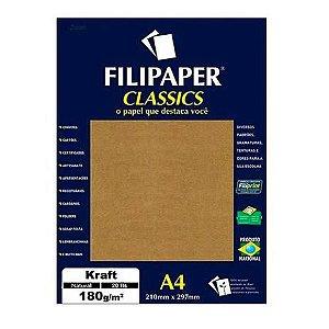 Filipaper A4 180g 20f Kraft Natural - Filipaper