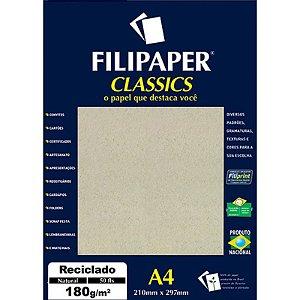 Filipaper A4 180g Reciclado Nat 50fls - Filipaper