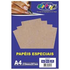 Papel A4 180g 50f Kraft Natural - Offpaper