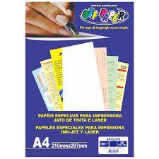Papel A4 180g 50fls Madeira Palha - Off Paper