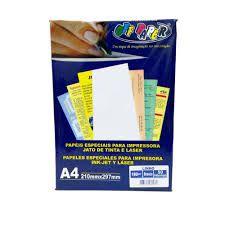 Papel Linho A4 180g 50f Branco - Offpaper