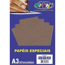 Papel A3 180g 50f Kraft Natural - Off Paper