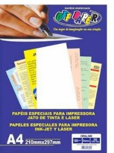 Papel A4 180g 50f Opaline Branco - Offpaper