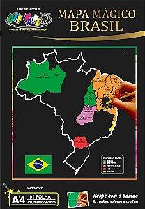 Mapa Mundi A4 Magico C/bastao - Off Paper