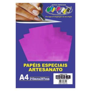 Papel Lamicote A4 250g 10f Rose Gold - Off Paper