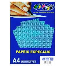 Papel A4 120g 10f Holografico Azul - Off Paper