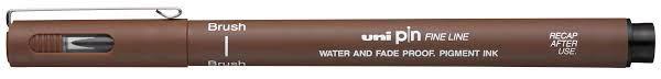 Caneta Profissional Brush Sepia - Uni