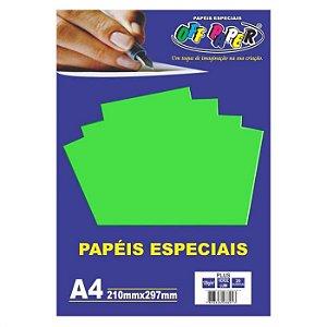 Papel A4 120g 20fls Plus Verde Lumi - Off Paper