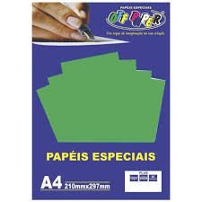 Papel A4 120g 20fls Plus Verde - Off Paper
