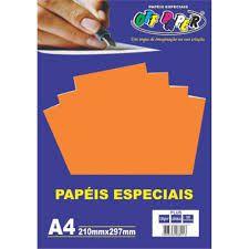 Papel A4 120g 20fls Plus Laranja - Off Paper