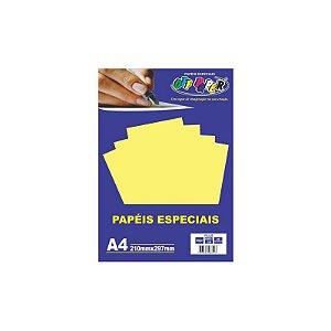 Papel A4 120g 20fls Plus Amarelo Lumi - Off Paper