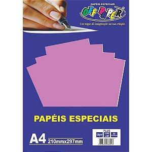 Papel A4 120g 20fls Plus Lilas Lumi - Off Paper