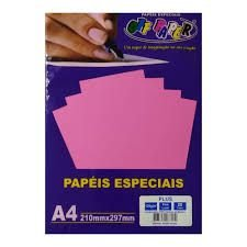 Papel A4 120g 20fls Plus Pink Lumi - Off Paper