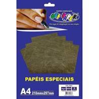 Papel A4 30g 10fls Feltro Marrom - Off Paper