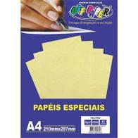 Papel A4 30g 10fls Feltro Creme - Off Paper