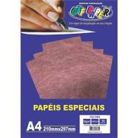 Papel A4 30g 10fls Feltro Vermelho - Off Paper