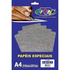 Papel A4 30g 10fls Feltro Prata - Off Paper