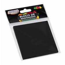 Bloco Anotacao 76x76mm C/50 Neon Preto - Brw