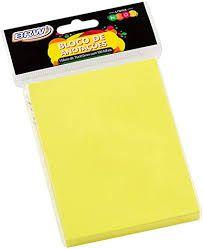 Bloco Anotacao 76x102mm C/100 Neon Amarelo - Brw