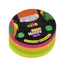 Bloco 45x45mm Smart Note Circulo Neon - Brw