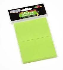Bloco Anotacao 38x51mm C/100 Neon Verde - Brw