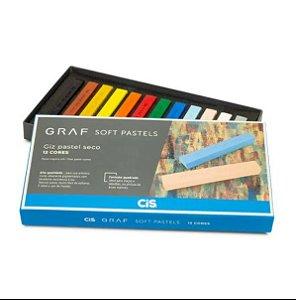 Estojo C/12 Giz Graf Pastels Seco Sortido - Cis