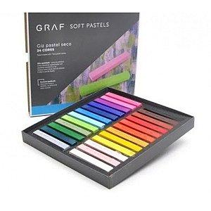 Estojo C/24 Giz Graf Pastels Seco Sortido - Cis