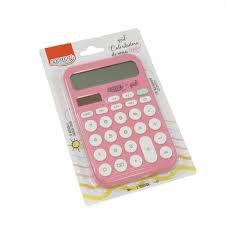 Calculadora 12 Digitos Grande Rosa - Brw