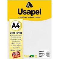 Papel Verge A4 180g/m2 50f Branco - Usapel