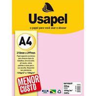 Papel Offset A4 180g 50f 60k Rosa - Usapel