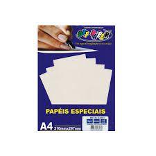 Papel A4 150g 15f Metalizado Branco - Off Paper